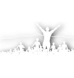 finishing line cutout vector image vector image