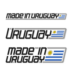 made in uruguay vector image vector image