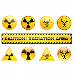 radiation set vector image