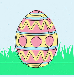 spotted easter egg continuous line vector image