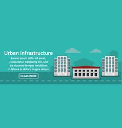 urban infrastructure banner horizontal concept vector image