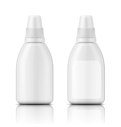 White plastic bottle template vector image vector image