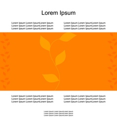 card branch of leaves autumn vector image vector image