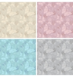 Lace white seamless pattern vector image vector image