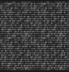 monochrome binary code seamless pattern vector image vector image