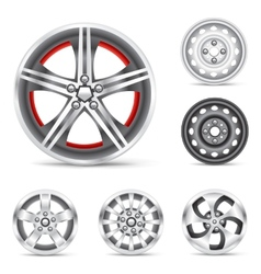 set of rims vector image vector image