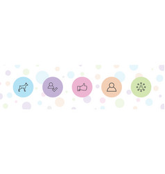 5 friend icons vector