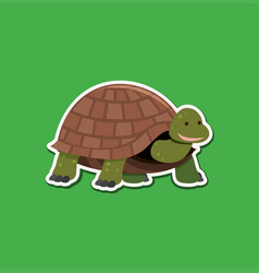 a turtle character sticker vector image