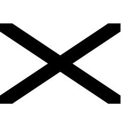 alabama al state flag united states america vector image