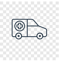 ambulance concept linear icon isolated on vector image