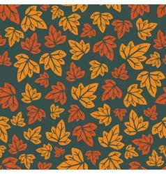 Autumn leaves pattern Hand-drawn seamless pattern vector
