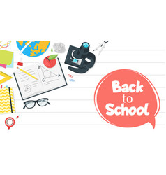 back to school top view vector image