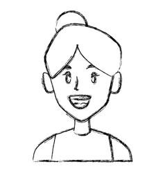 beautiful woman smiling face vector image