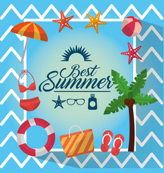 best summer poster vacation travel leisure vector image