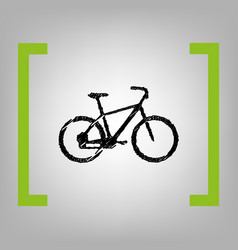 bicycle bike sign black scribble icon in vector image