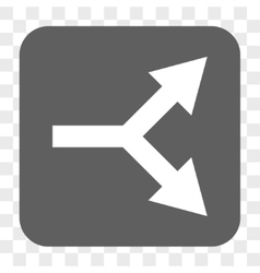 Bifurcation Arrow Right Rounded Square Button vector