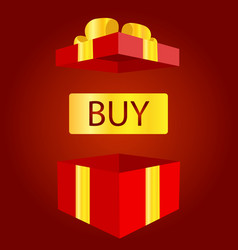 big sale open gift box concept prize or bonus vector image