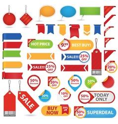 big set sale stickers vector image