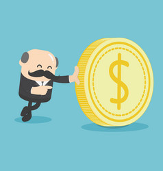 business with dollar vector image
