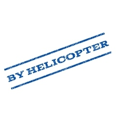 By helicopter watermark stamp vector