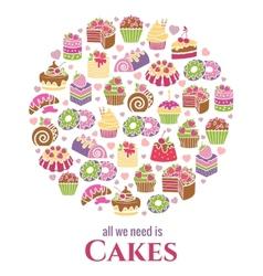 Cakes emblem vector image