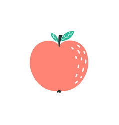 cartoon red apple isolated on white vector image