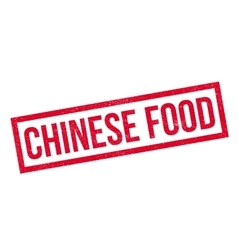 Chinese Food rubber stamp vector image