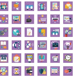 Collection of colorful flat business and finance vector