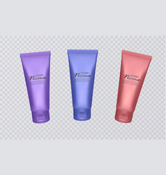 colorful cosmetic tubes cosmetic templates ready vector image