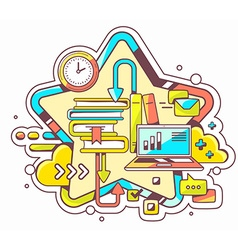 Colorful of business education with books an vector