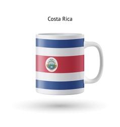 Costa Rica flag souvenir mug on white background vector