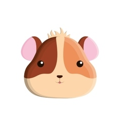 cute hamster isolated icon vector image