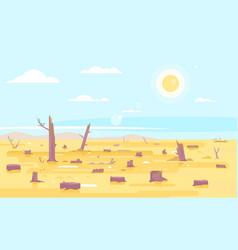 deforestation flat concept background vector image