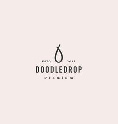 Drop doodle logo icon vector