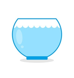 Empty aquarium fish Glass vessel for keeping vector image vector image