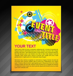 Event brochure flyer vector