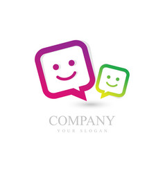 faces colour icons vector image