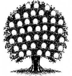 Family tree portraits vector