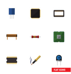 Flat icon appliance set of transducer repair vector