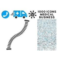 Flexible Pipe Icon with 1000 Medical Business vector