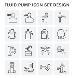 Fluid pump icon vector