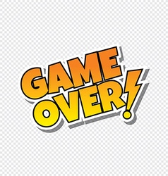 game over cartoon text sticker vector image