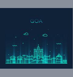 Goa skyline india linear style vector