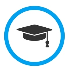 Graduation Cap Rounded Icon vector image