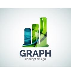 Graph logo template vector image
