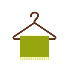 Green scarf on coat-hanger flat icon vector image