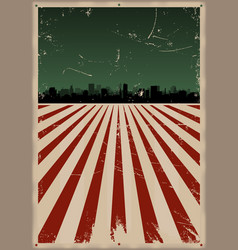 grunge american poster vector image