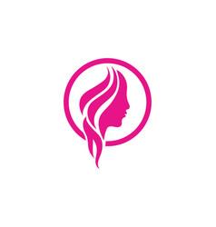 hair and face salon logo templates vector image