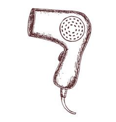 hair dryer vector image vector image