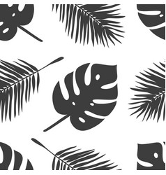 hand drawn summer seamless pattern with palm vector image